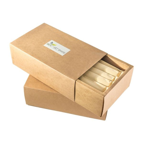 50 x Natural Bamboo Drinking Straws (145mm)